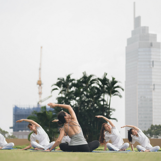 Yoga Under the sky at InterContinental Saigon